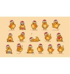 Isolated Emoji character cartoon Hen vector