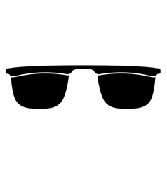 isolated sunglasses silhouette vector image