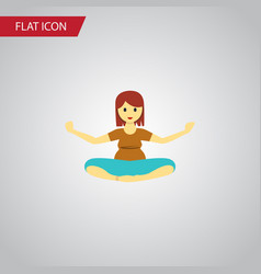 isolated yoga flat icon meditation element vector image