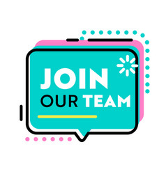 Join our team banner for job hiring agency with vector