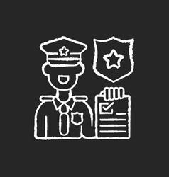 Law enforcement chalk white icon on black vector