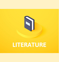 literature isometric icon isolated on color vector image