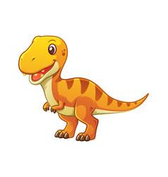 little tyrannosaurus cartoon vector image