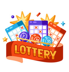 Lottery and bingo concept for online vector