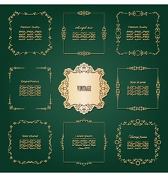 Luxury golden frames set vector image
