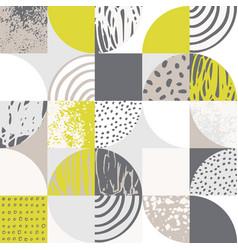 Modern seamless geometric pattern semicircles vector