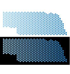 Nebraska state map hex-tile abstraction vector