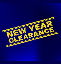New year clearance grunge stamp seal on gradient vector