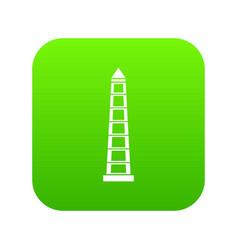 obelisco of buenos aires icon digital green vector image