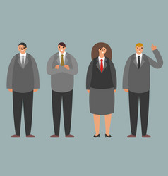 office business team workers standing characters vector image