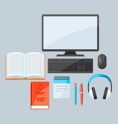 Online studying at home concept distance vector