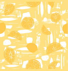 orange hand drawn citrus fruit silhouettes on vector image