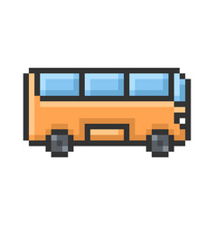 outlined pixel icon bus fully editable vector image