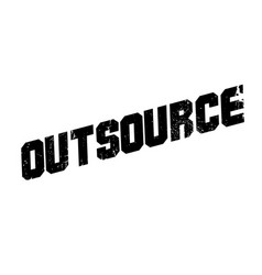 outsource rubber stamp vector image