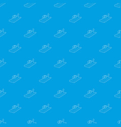 Planer on wood pattern seamless blue vector