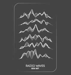 Radio waves radio frequency identification vector