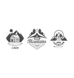 recreation premium logo design templates set vector image