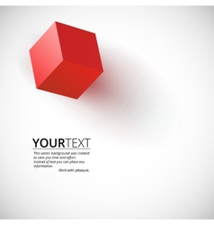 Red cube background vector