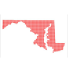 Red dot map of maryland vector