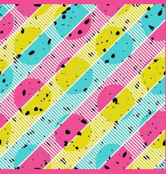 Retro colors diagonal lines background pop-art vector