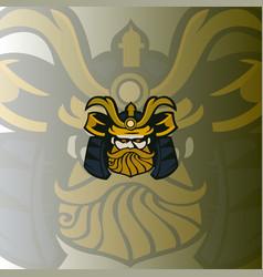 samurai logo mascot vector image