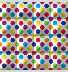 seamless colorful polka dot pattern vector image