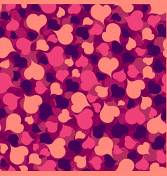 seamless repeating hearts background vector image