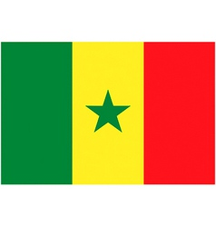 senegalese flag vector image