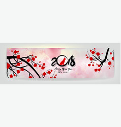 set banner happy new year 2018 greeting card and vector image