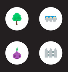 Set of agriculture icons flat style symbols with vector