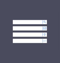 Set search bars flat web design elements vector
