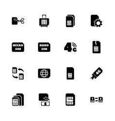 Sim cards - flat icons vector