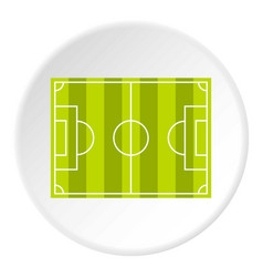 soccer field or football grass field icon circle vector image