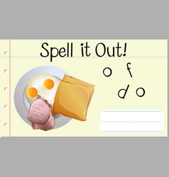 Spell it out food vector