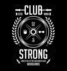 Strong club - fitness - gym - sport vector