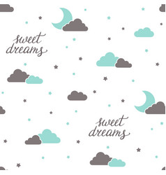 Sweet dreams seamless background vector