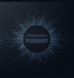 Technology futuristic internet system background vector