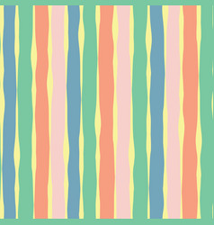 Vertical lines seamless pink coral yellow green vector