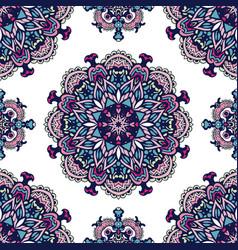 vintage decorative tiled design vector image
