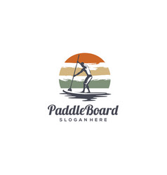 vintage paddle board vector image