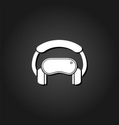 virtual reality icon flat vector image