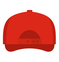 baseball cap back icon flat style vector image vector image