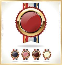 Blank award ribbon rosette vector image