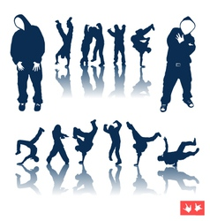 Hiphop dancing vector