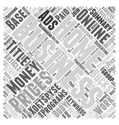 Home of bucks an Ads Word Cloud Concept vector image vector image