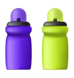image of sports bottles for liquids volumetric vector image vector image
