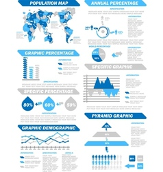 INFOGRAPHIC DEMOGRAPHIC ELEMENTS NEW BLUE vector image vector image