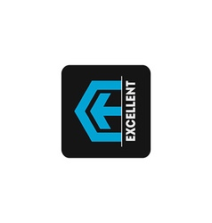Logo template with arrow and stylized letter E vector image vector image