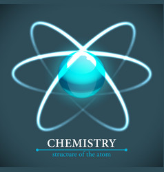 molecule chemistry background vector image vector image