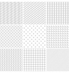 monochrome geometric patterns vector image vector image